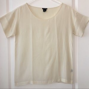 Club Monaco | Nude Silk Blouse, XS/TP